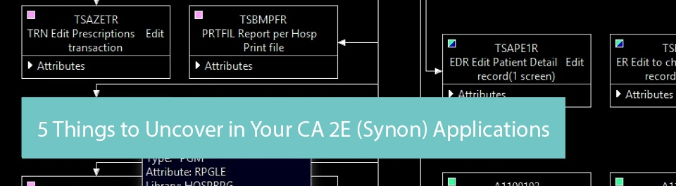Webinar with live demo: 5 Things to Uncover in Your CA 2E (Synon) Applications