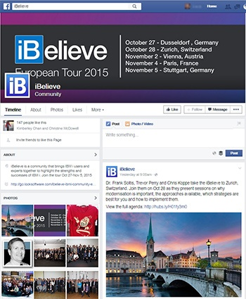 iBelieve 2015 Facebook page